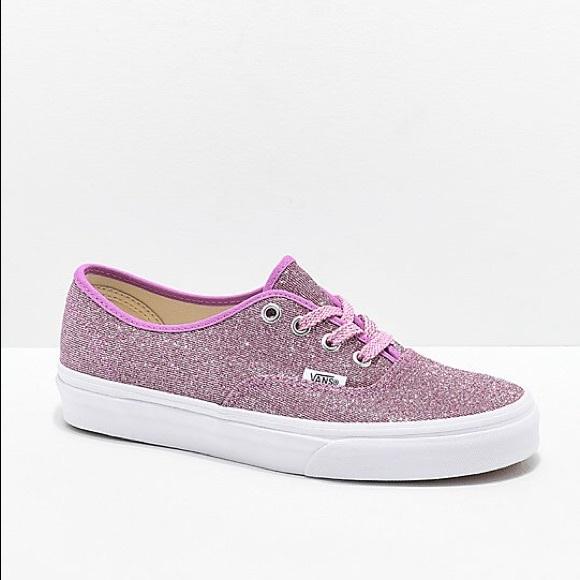 Vans Shoes - Vans Purple Glitter Authentics Sneakers